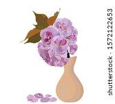 japanese sakura blossom branch... | Shutterstock .eps vector #1572122653