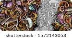 hair salon hand drawn doodle... | Shutterstock .eps vector #1572143053