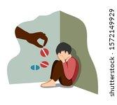 antidepressant saving boy from... | Shutterstock .eps vector #1572149929