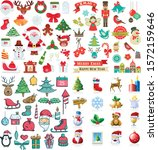 christmas vector icons new year ... | Shutterstock .eps vector #1572159646