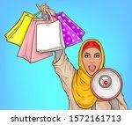 Arabic Woman In Hijab With Lou...