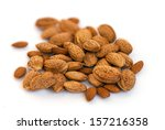 macro view of almonds in shell