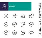 rotation line icon set. set of... | Shutterstock .eps vector #1572171646