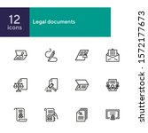 legal documents line icon set.... | Shutterstock .eps vector #1572177673