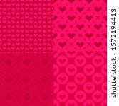 valentine's day patterns. set... | Shutterstock .eps vector #1572194413