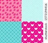 valentine's day patterns. set... | Shutterstock .eps vector #1572194416