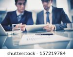 image of business objects on... | Shutterstock . vector #157219784