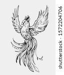 fairy bird. phoenix. firebird.  ...   Shutterstock .eps vector #1572204706