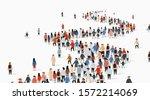 crowd of buisness people... | Shutterstock .eps vector #1572214069