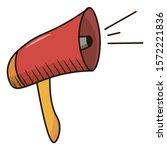 megaphone icon. object...