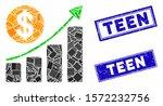 mosaic dollar growth graph... | Shutterstock .eps vector #1572232756