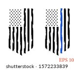 thin blue line us flag clip art....   Shutterstock .eps vector #1572233839