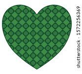 heart with green background and ... | Shutterstock .eps vector #1572256369