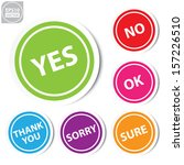 vector yes  no  ok   sure thank ... | Shutterstock .eps vector #157226510