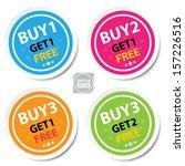 vector   sticker or label for... | Shutterstock .eps vector #157226516
