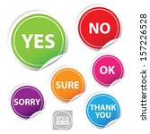 vector yes  no  ok   sure thank ... | Shutterstock .eps vector #157226528