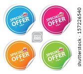 Vector:special offer colorful stickers set