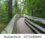 Walkway in Copper Falls State Park, Mellen, Wisconsin