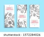three christmas banner. vector... | Shutterstock .eps vector #1572284026