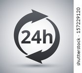 vector 24 hours icon | Shutterstock .eps vector #157229120