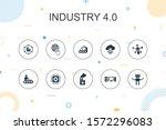 industry 4.0 trendy infographic ...