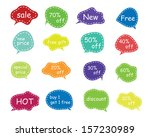 set of speech and thought...   Shutterstock .eps vector #157230989