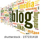 blog and social media concept... | Shutterstock . vector #157231418