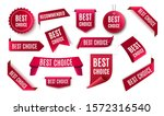 Best Choice Tags  Vector Red...