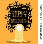 ghost. halloween monster | Shutterstock .eps vector #157232858