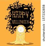 ghost. halloween monster | Shutterstock .eps vector #157232858