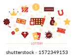 lottery concept. gamble and... | Shutterstock . vector #1572349153