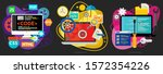 graphic design  webdesign and... | Shutterstock .eps vector #1572354226