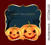 halloween greeting design with... | Shutterstock .eps vector #157236110