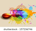 vector colorful diwali design... | Shutterstock .eps vector #157236746