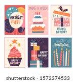 happy birthday greeting card... | Shutterstock .eps vector #1572374533