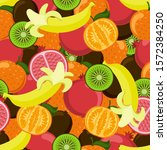 seamless pattern with juicy... | Shutterstock .eps vector #1572384250