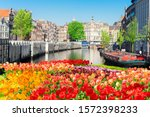 singel canal in the center of...   Shutterstock . vector #1572398233