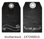 chalkboard vintage style tags...   Shutterstock . vector #157240013