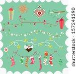 christmas decorations | Shutterstock .eps vector #157241390