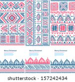 tribal vintage ethnic banners  | Shutterstock .eps vector #157242434