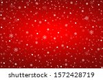 snowflakes on the red... | Shutterstock .eps vector #1572428719