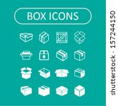 boxes icons | Shutterstock .eps vector #157244150