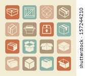 packaging icons | Shutterstock .eps vector #157244210
