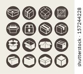 box icons | Shutterstock .eps vector #157244228