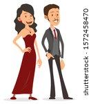 cartoon flat cute funny... | Shutterstock .eps vector #1572458470