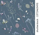 Seamless Pattern With Sprigs ...
