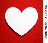 holiday card. heart from paper... | Shutterstock . vector #157246583