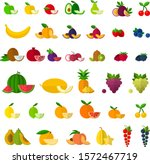 set of fruits and berries icons ...   Shutterstock .eps vector #1572467719