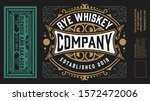 vintage labels for whiskey or... | Shutterstock .eps vector #1572472006