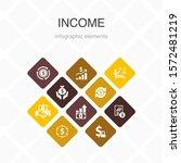 income infographic 10 option...